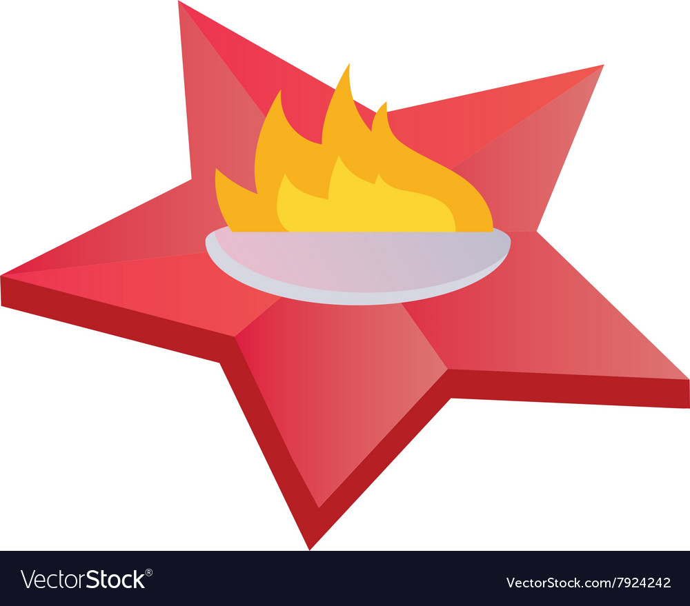Eternal Flame Symbolizing Victory In Great Vector Image