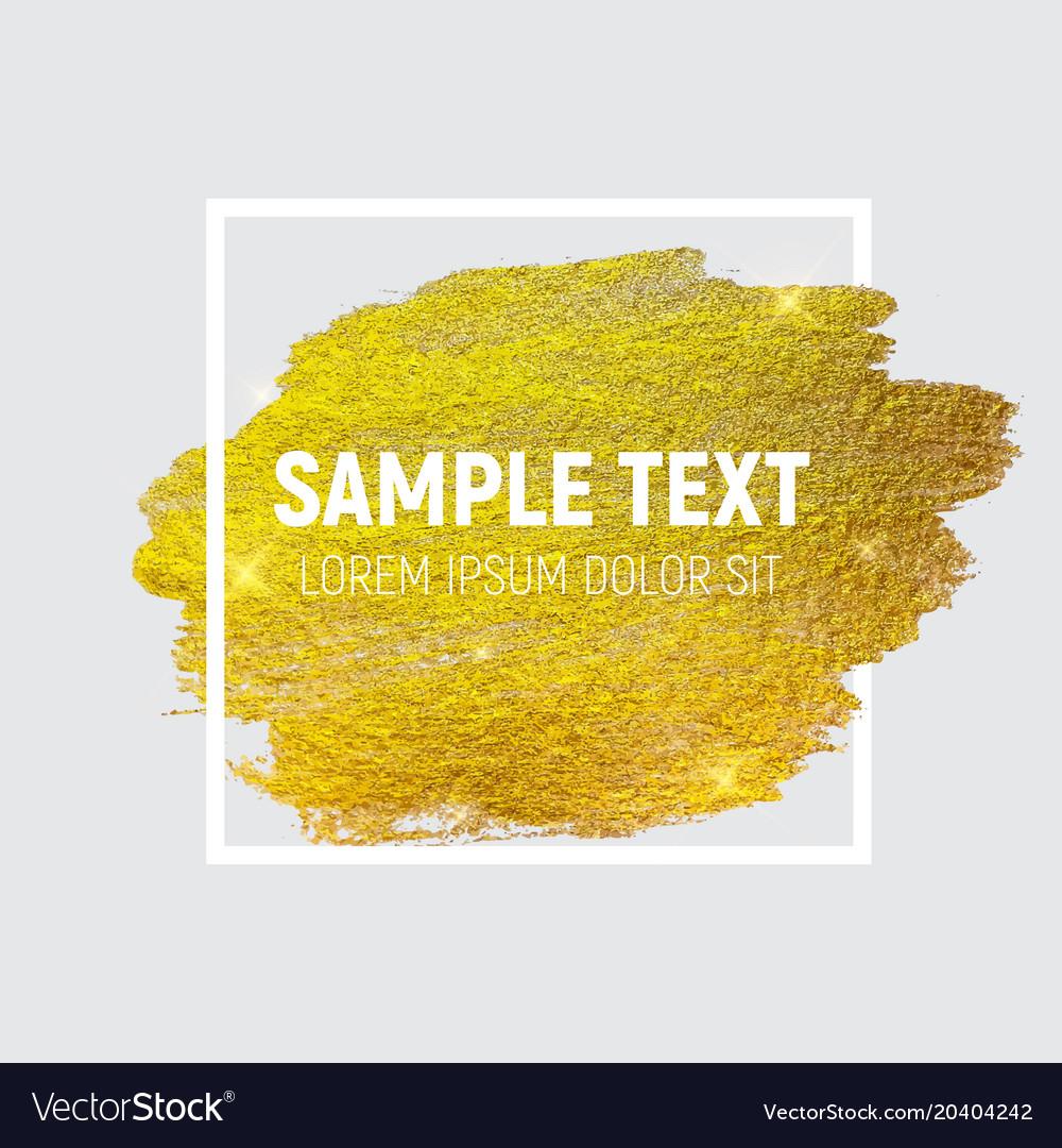 Gold paint glittering textured art