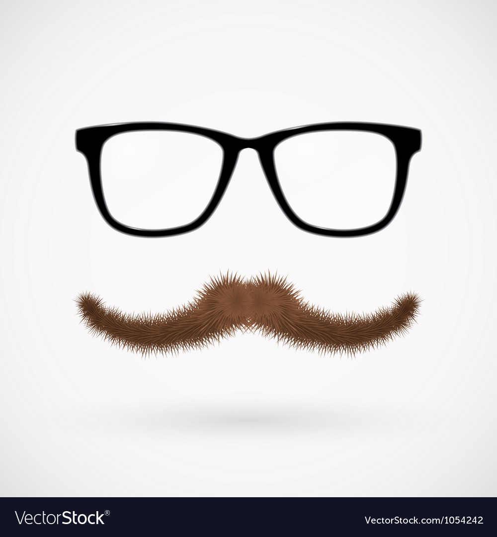 Hipster Glasses And Mustache Royalty Free Vector Image
