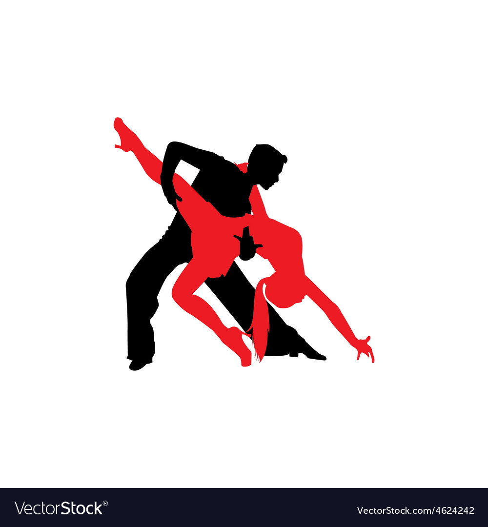 Latin Dancers Silhouettes Royalty Free Vector Image