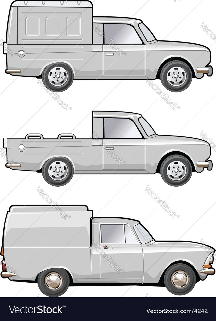 Modifications delivery car vector image