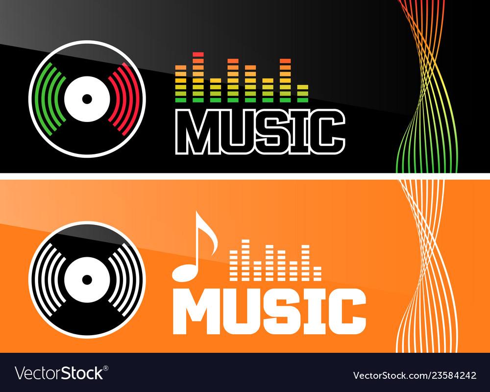 Music banner or flyer design