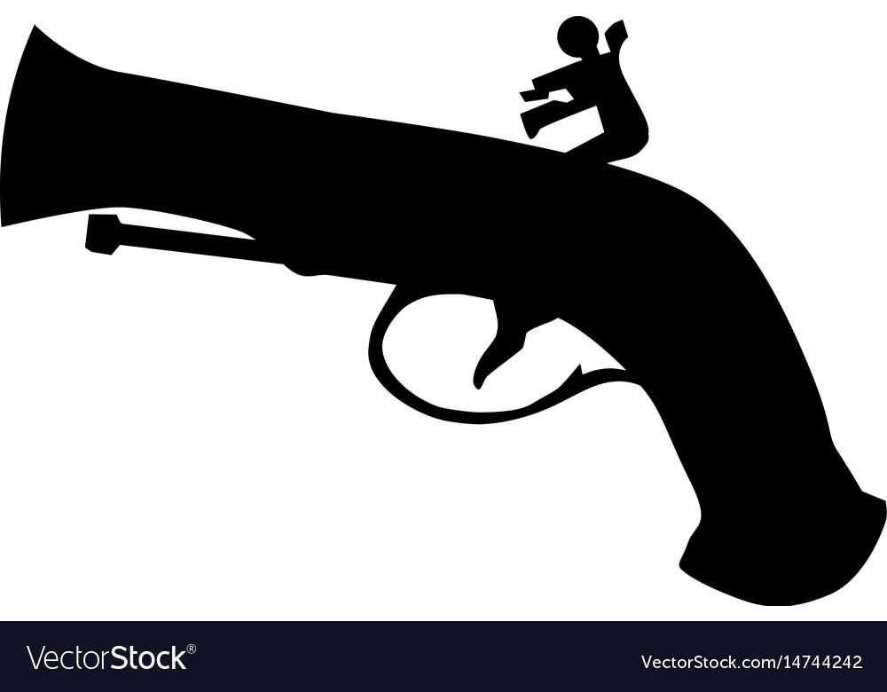 Vintage pistol vector image