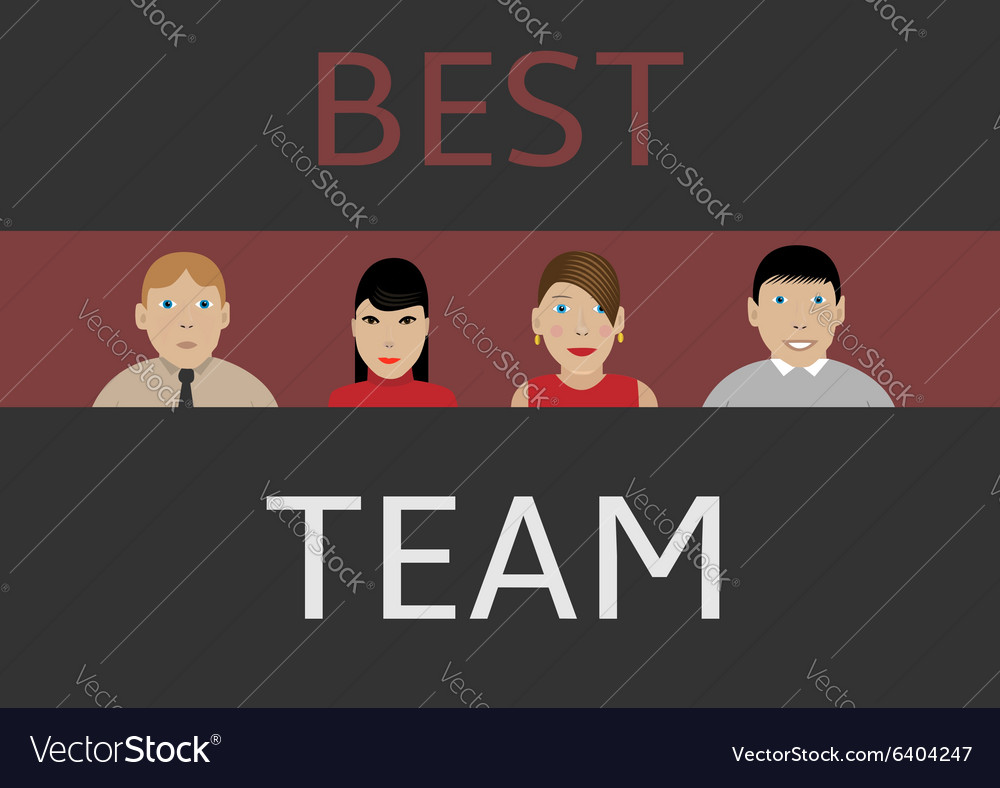 Best business team vector image