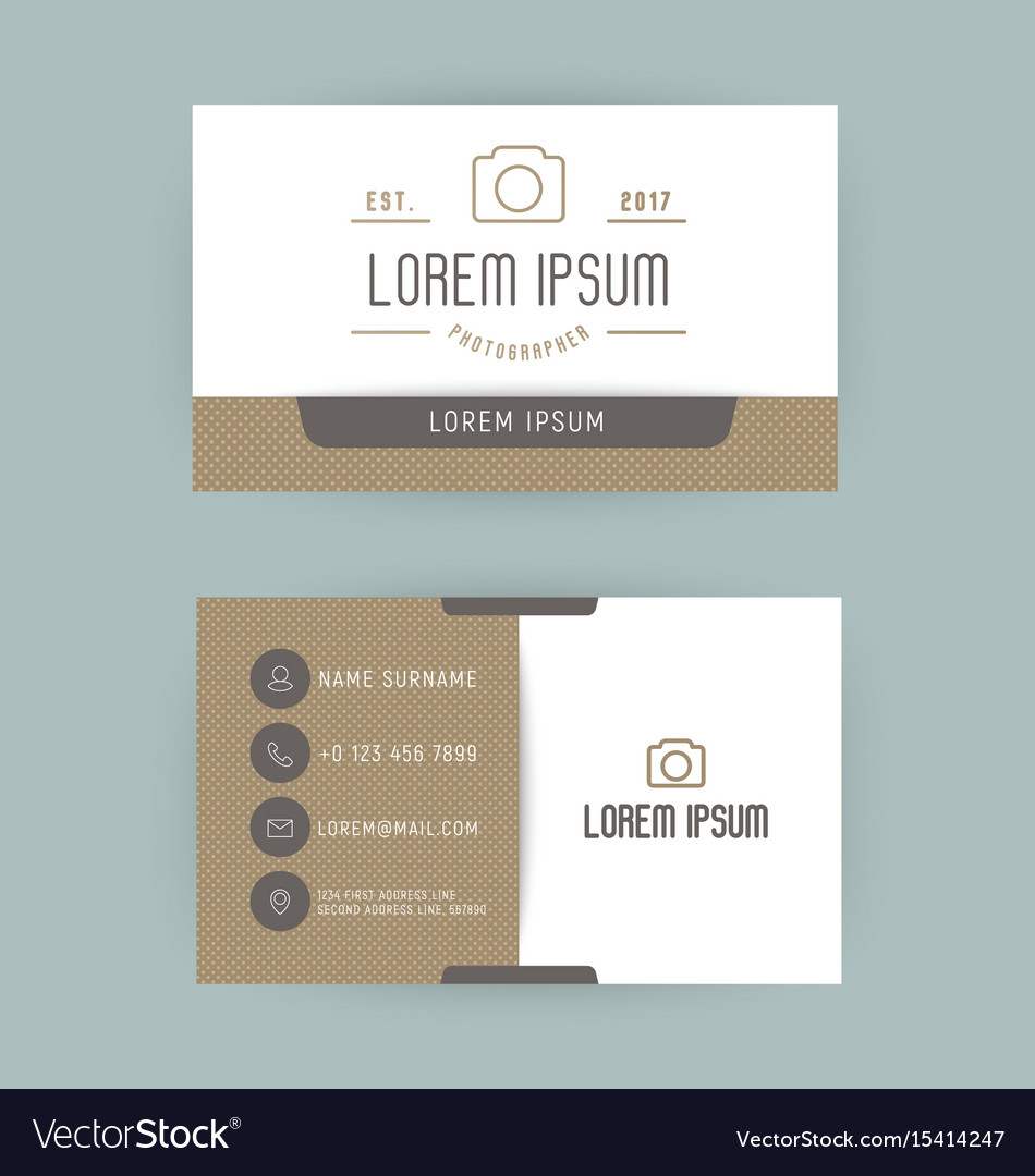 Business card with logo for photographer