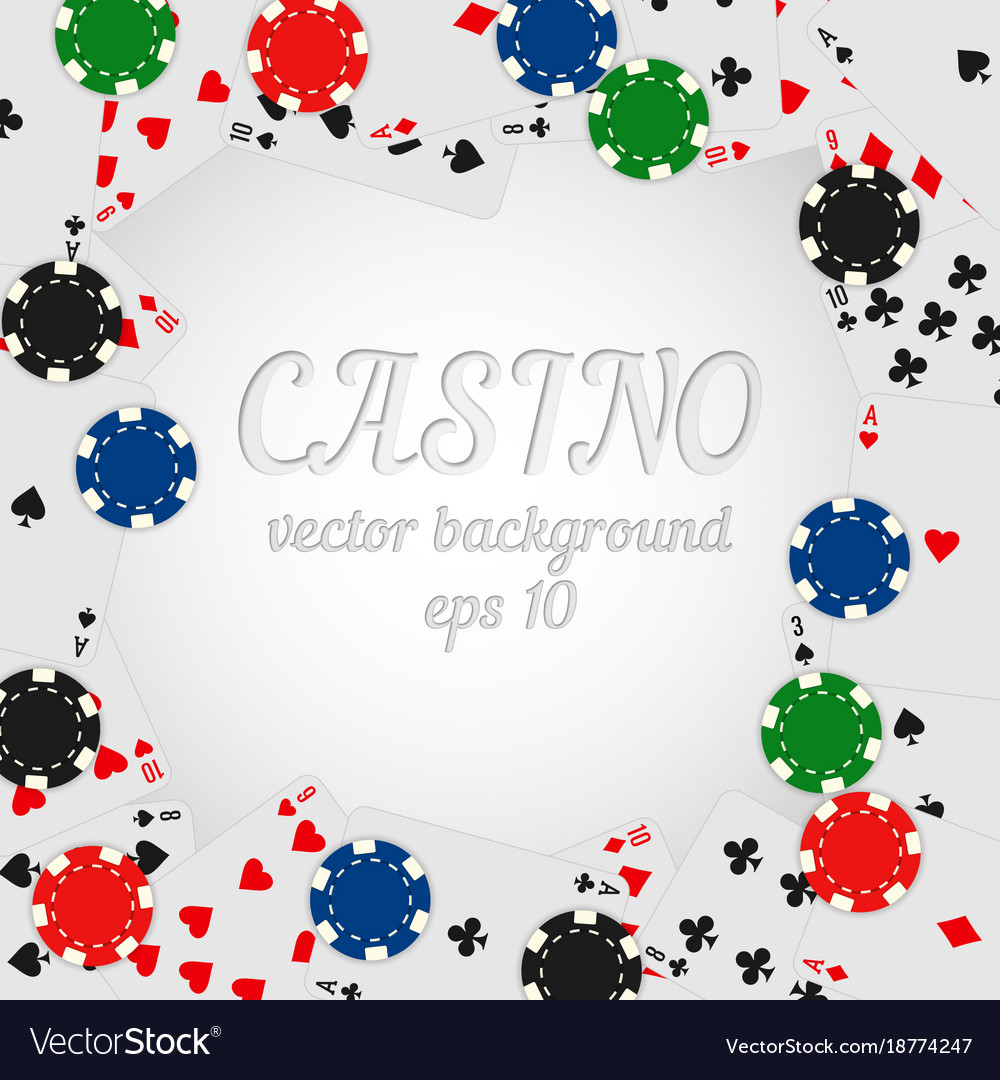 Casino chips and playing cards background