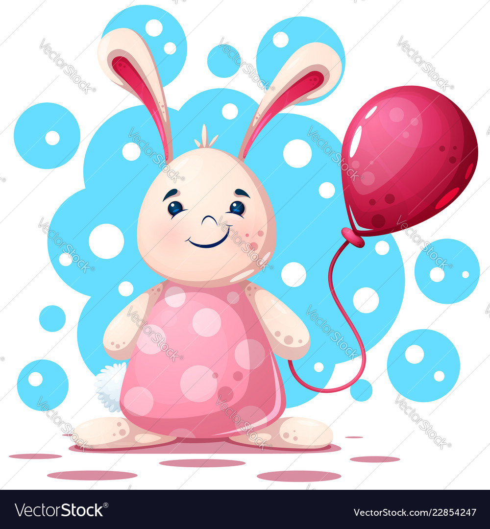 Cute funny pretty beautiful rabbit character