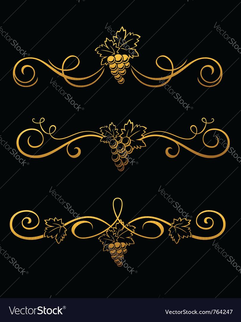 Golden grape borders