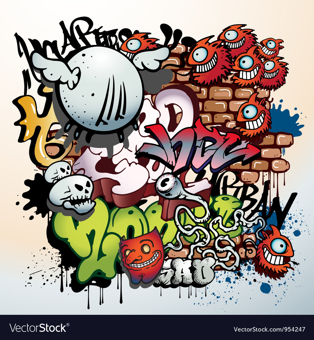 graffiti royalty free vector image vectorstock rh vectorstock com graffiti vector art graffiti vector art