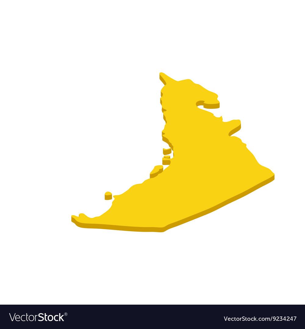 Map UAE icon isometric 3d style