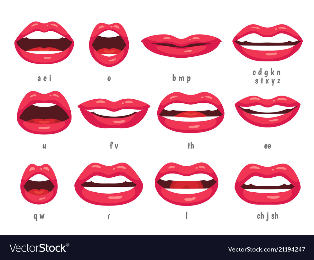 Mouth animation lip sync animated phonemes