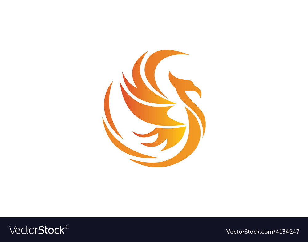 Phoenix bird abstract logo