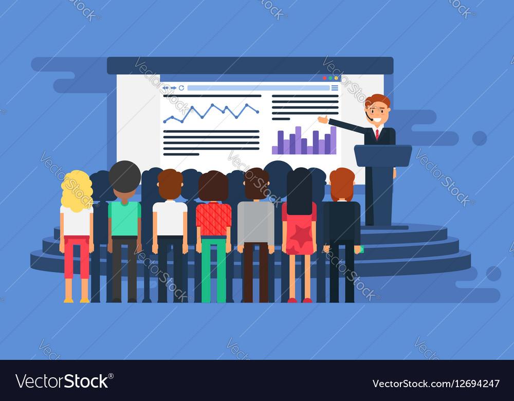 Presentation Room with board vector image