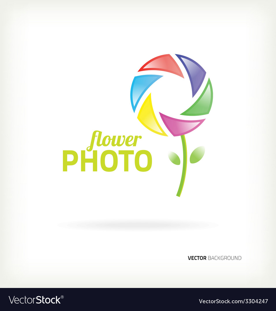 Symbol flower photo vector image