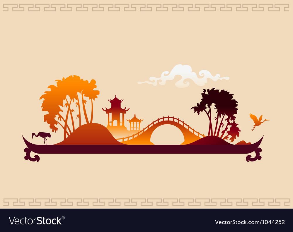 272 asia landscape tray