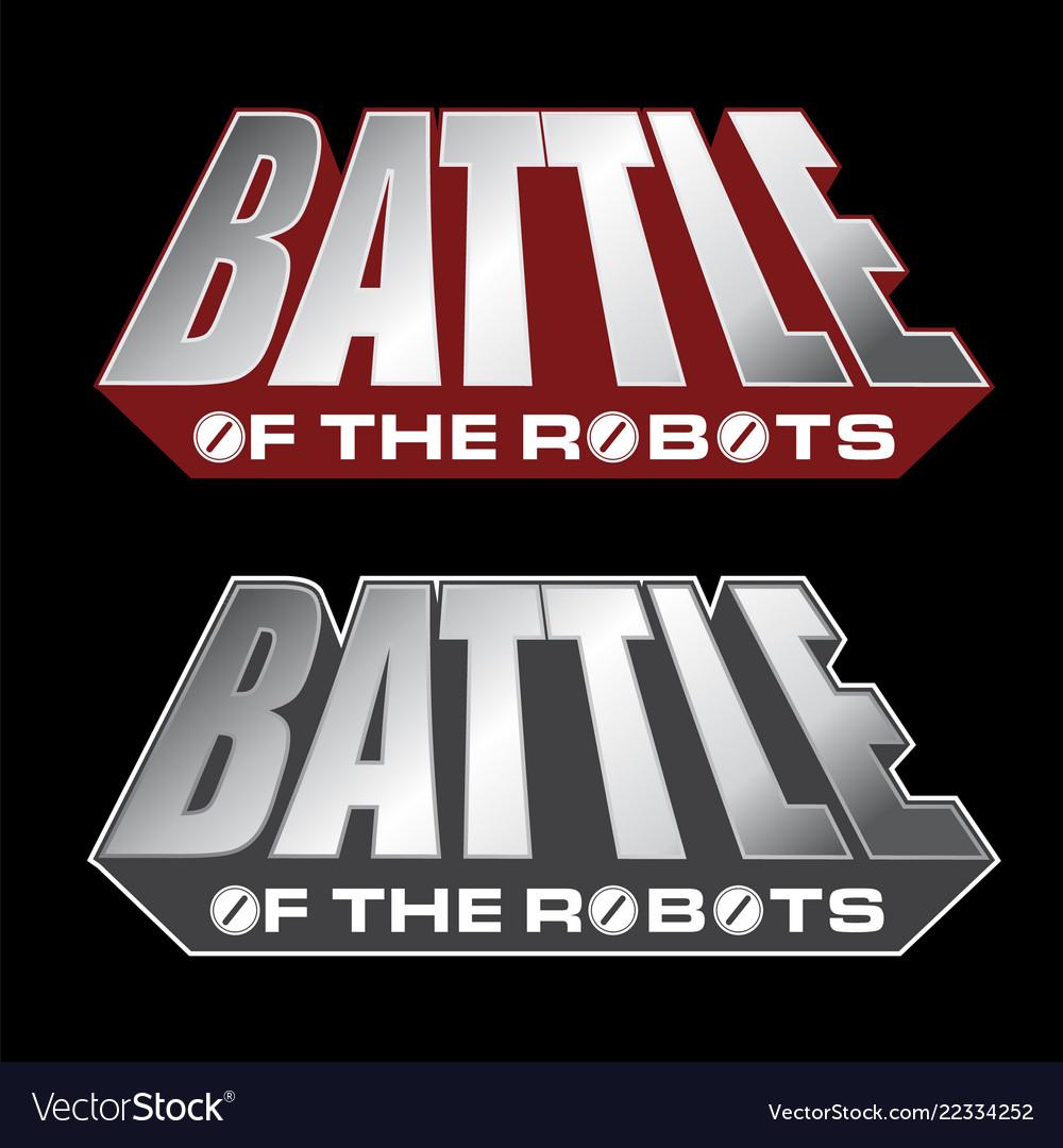 Battle of the robots logo design