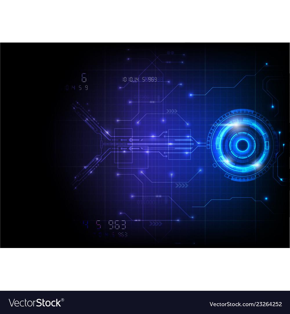 Blue futuristic game circuit technology