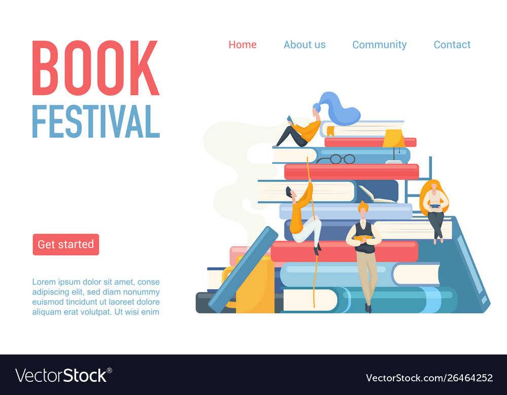 Book festival landing page poster
