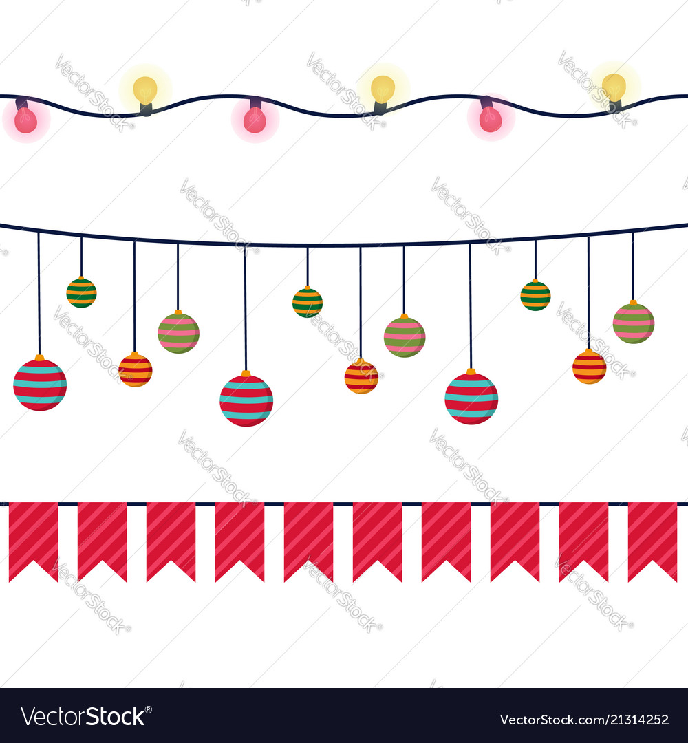 Christmas banners garlands and decoration