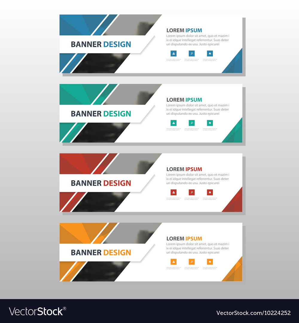 Colorful abstract corporate business banner vector image