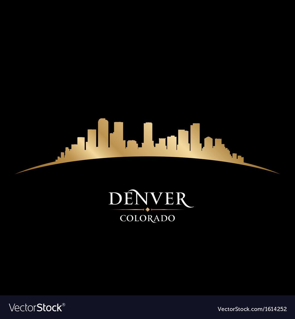 Denver Colorado city skyline silhouette vector image