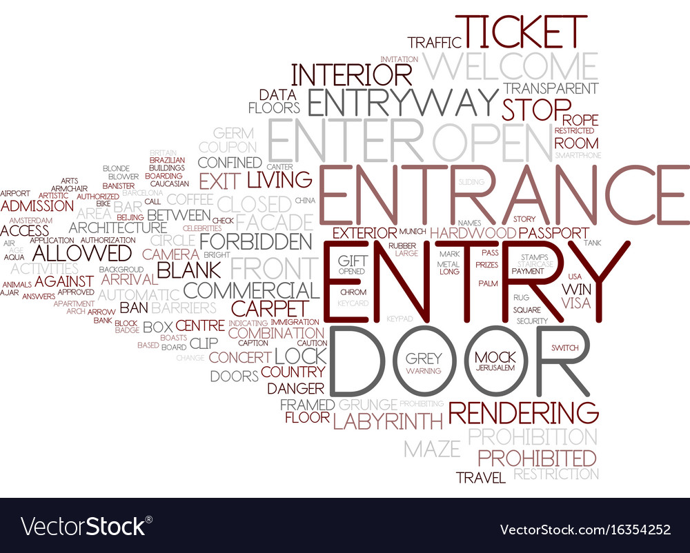 Entry word cloud concept vector image