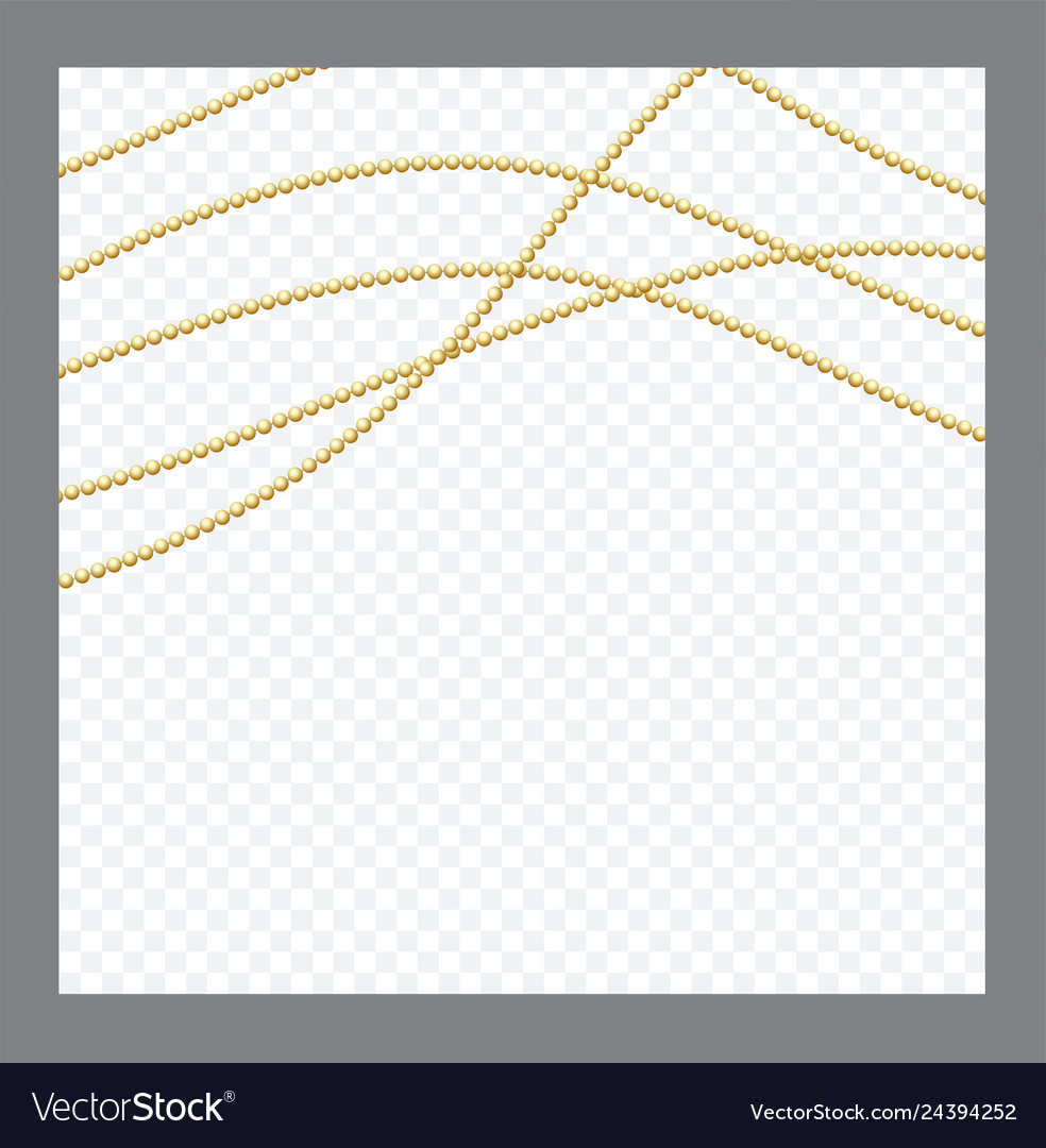 Golden or bronze color round chain realistic