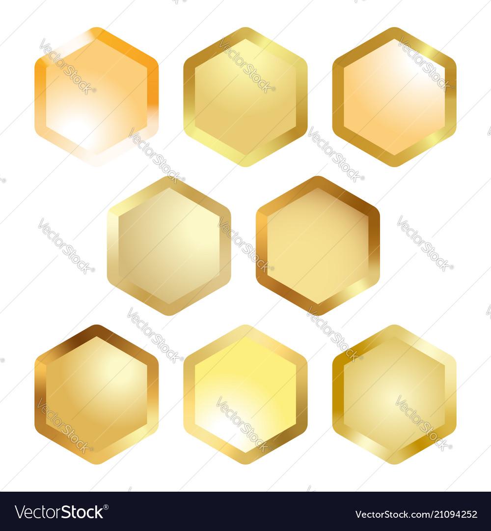 Honeycomb cell metallic button