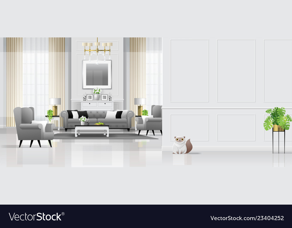 Luxury Living Room Interior Background Royalty Free Vector