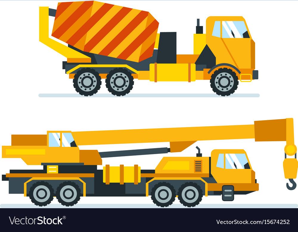 Machines trucks vehicles for transportation
