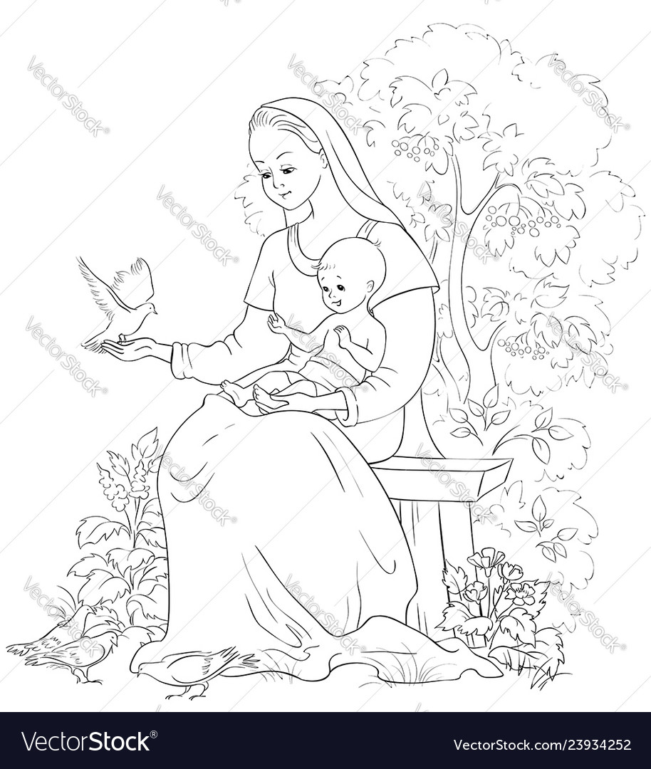 Our Lady of Guadalupe coloring page | Free Printable Coloring Pages | 1080x914