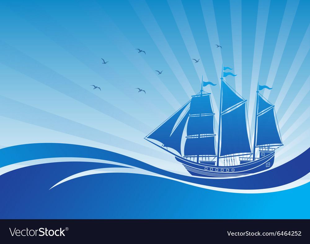 Sail ship background3