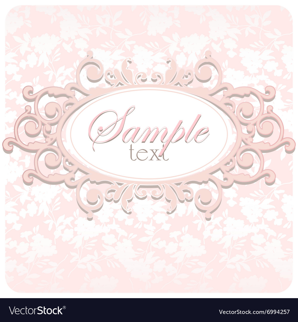 Beautiful Wedding Card With Frame Vector Image