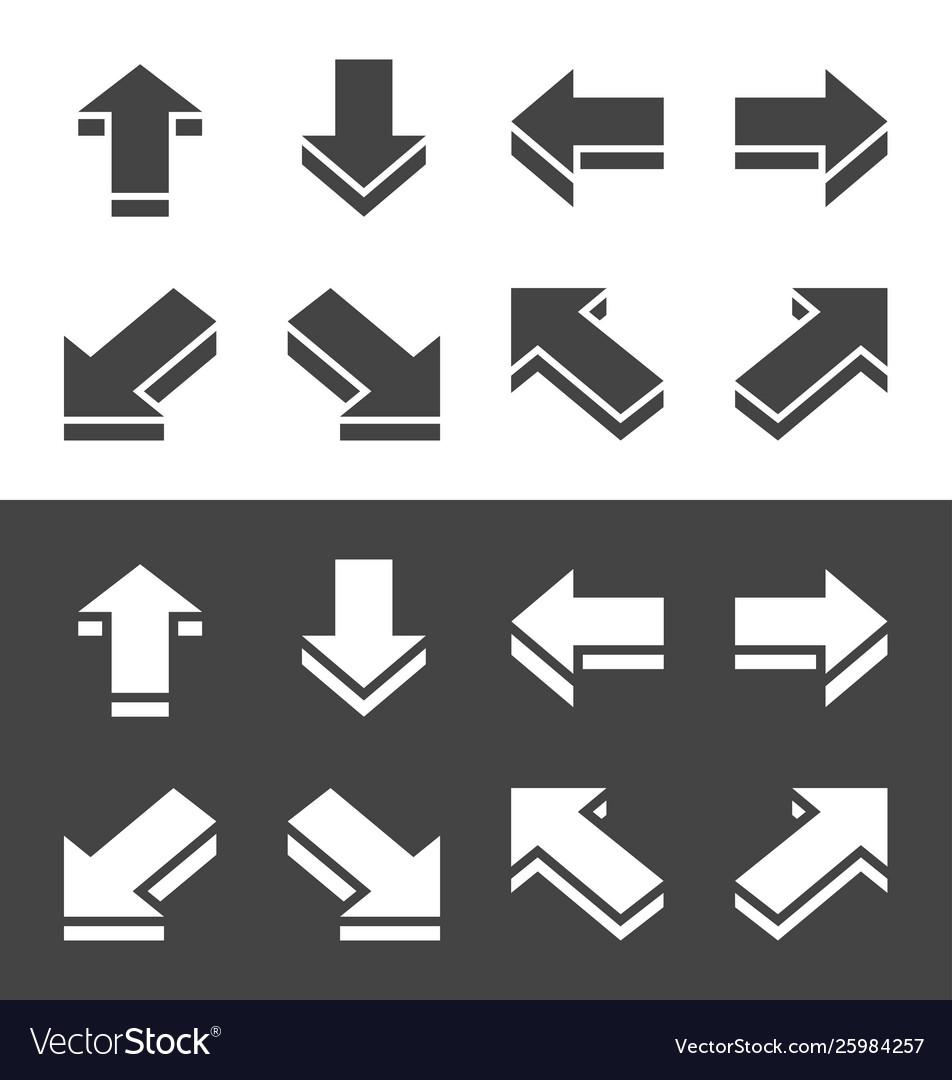 Isometric arrow icon set