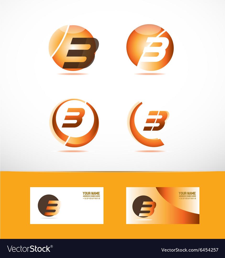 Letter b logo icon set vector image