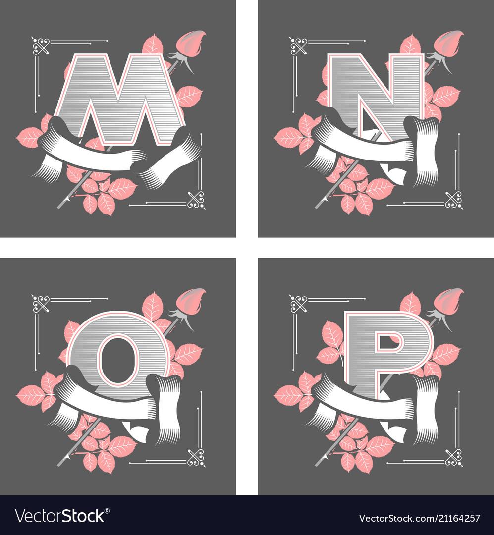 Letters alphabet flower