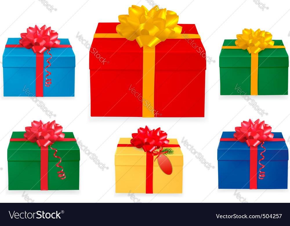 Set of Christmas boxes