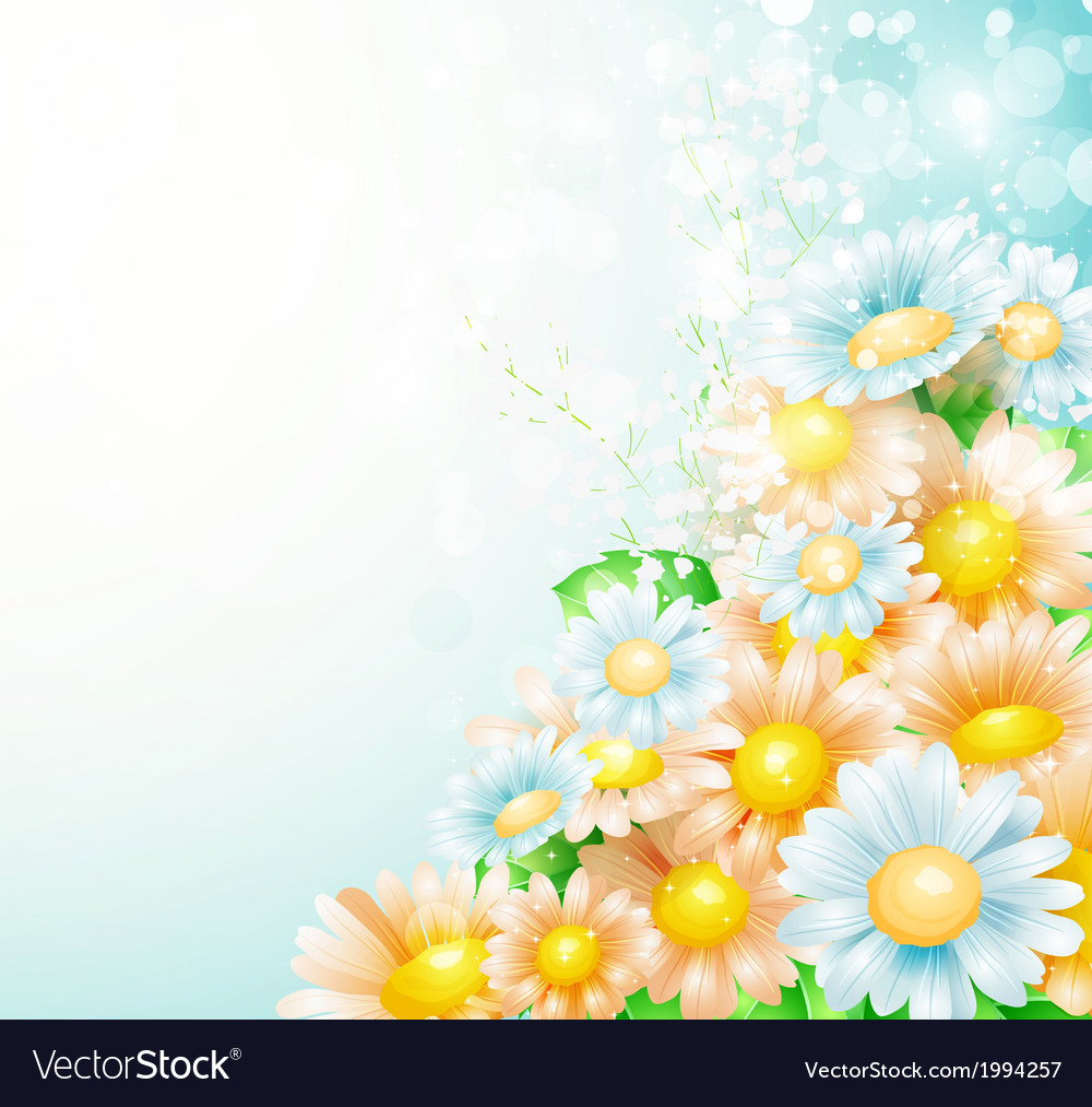 Spring flowers background royalty free vector image spring flowers background vector image mightylinksfo