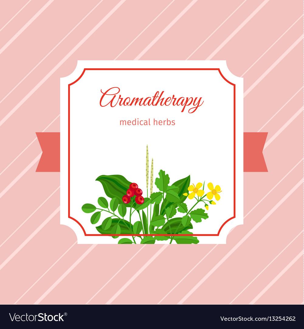 Aromatherapy medical herbs label