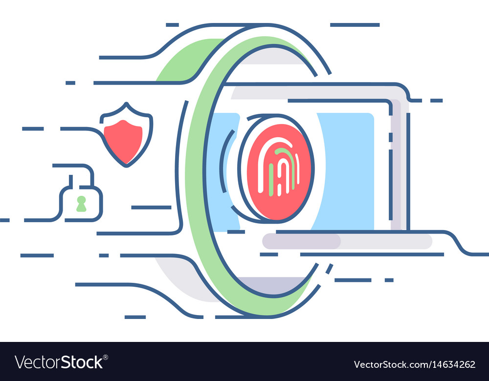 Digital security of information vector image