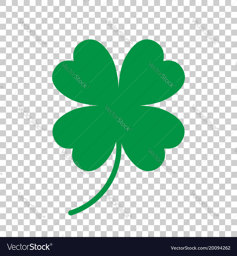 Four leaf clover icon clover silhouette simple