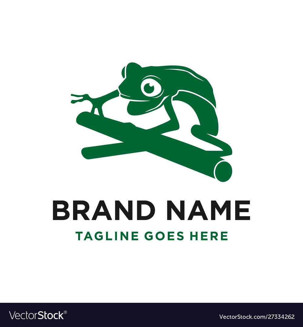 Green frog logo design