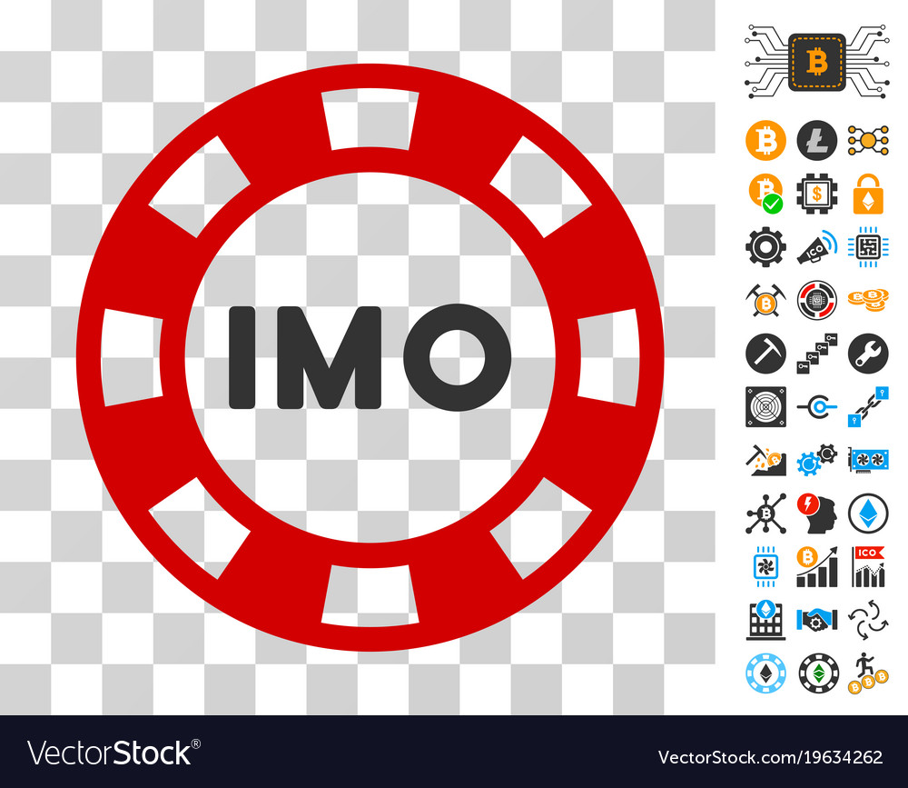 Imo Token Icon With Bonus Royalty Free Vector Image