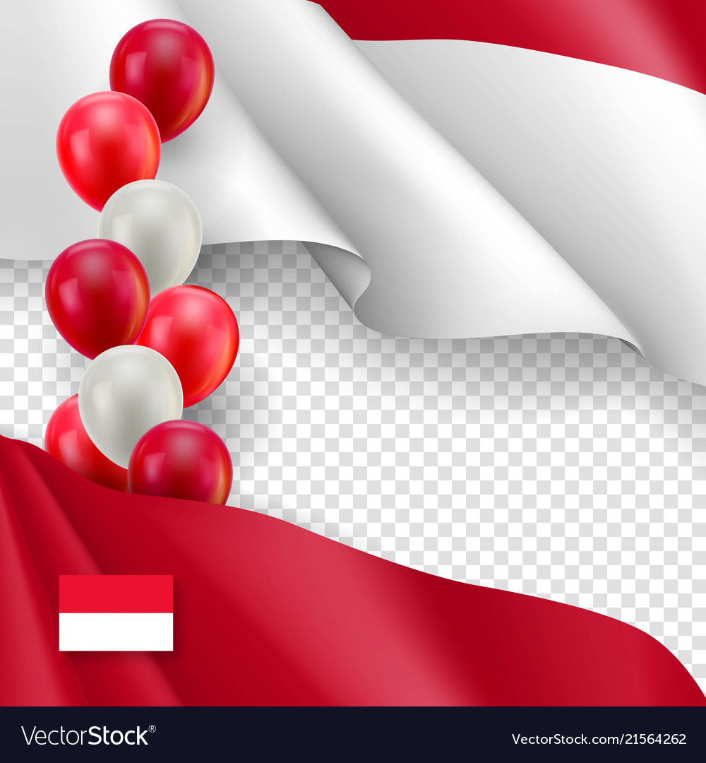 indonesian patriotic template with copy space vector image
