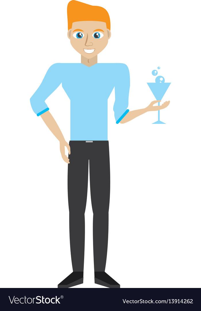 Man party dance celebration vector image