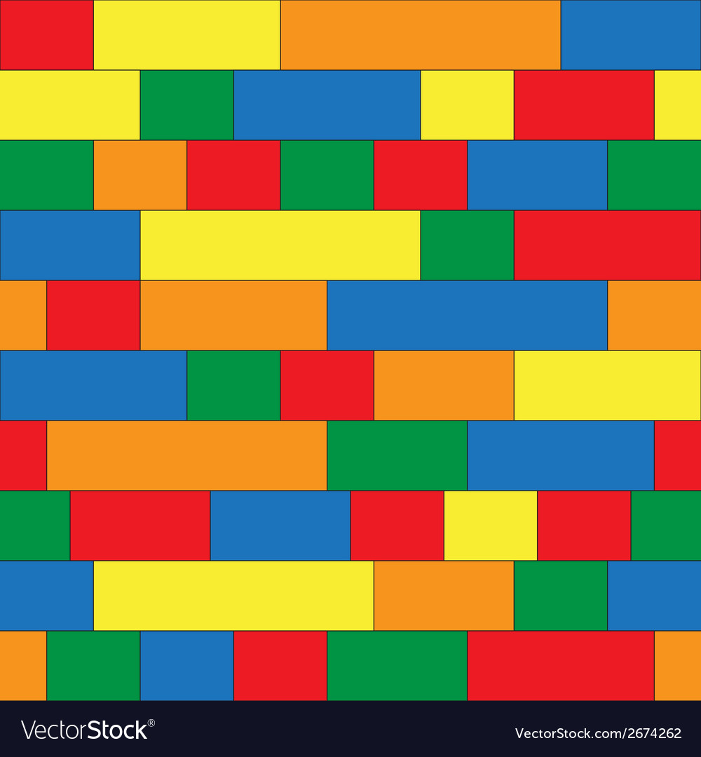 Plastic construction blocks seamless background
