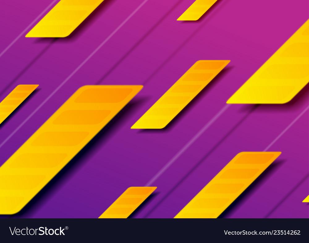 Purple orange abstract geometric minimal