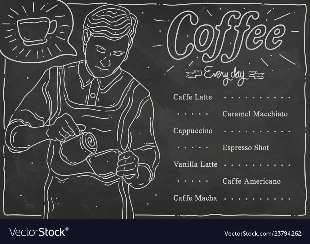 Sketch coffee shop menu list