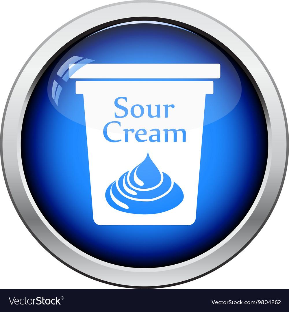 Sour cream icon vector image