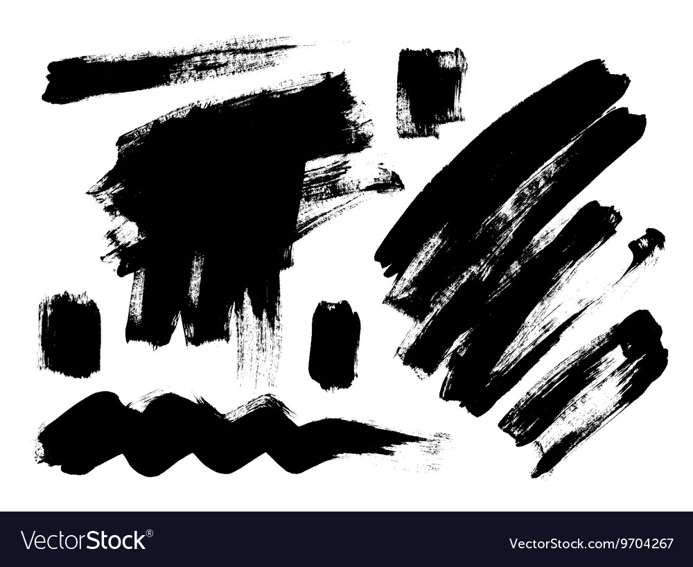 Black grungy abstract hand-painted